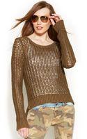 Michael Kors Michael Petite Openstitch Sweater - Lyst