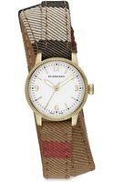 Burberry Utilitarian Goldtone Stainless Steel House Check Doublewrap Watch - Lyst