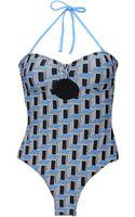 BCBGMAXAZRIA Onepiece Swimsuit - Lyst