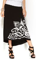 Inc International Concepts Embroidered Highlow Maxi Skirt - Lyst