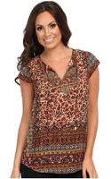 Lucky Brand Autumn Embellished Top - Lyst