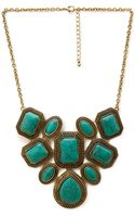 Forever 21 Faux Turquoise Statement Necklace - Lyst