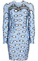 Matthew Williamson Evening Polka Star Print Ruched Bodycon Dress - Lyst