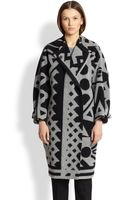 Burberry Prorsum Wool Cashmere Blanket Coat - Lyst