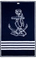 Thom Browne Navy Anchor Beach Towel - Lyst