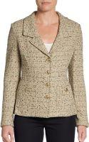St. John Bouclé Knit Jacket - Lyst