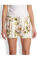 Haute Hippie Floral Silk Summer Shorts - Lyst