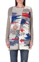 Free People Oversized Knit Cardigan - Lyst