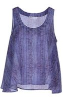 See By Chloé Sleeveless Silk Printed Top - Lyst