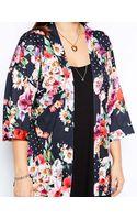 Asos Curve Exclusive Kimono in Floral Polka Dot - Lyst