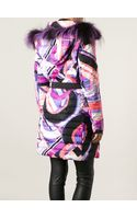 Emilio Pucci Trimmed Hood Printed Padded Coat - Lyst