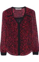 Diane von Furstenberg Lane Printed Silk-chiffon Top - Lyst