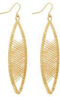 Kenneth Jay Lane Wirewrapped Drop Earrings - Lyst
