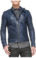 Belstaff Kirkham Tumbled Leather Biker Jacket - Lyst