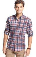 Tommy Hilfiger Long Sleeve Slim Fit Ellis Flannel Shirt - Lyst