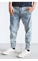 Native Youth Acid Wash Denim Slim-fit Jogger Pant - Lyst