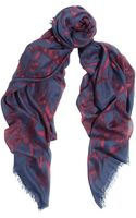 Alexander McQueen Printed Modal and Silkblend Scarf - Lyst