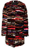 Diane Von Furstenberg Mink Multicolored Coat - Lyst