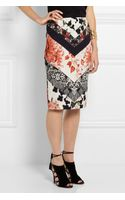 Roberto Cavalli Printed Stretchcrepe Pencil Skirt - Lyst