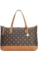 Tommy Hilfiger Coated Logo Monogram Convertible Shopper - Lyst