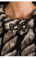 Twelfth Street Cynthia Vincent Shadows and Light Faux Fur Jacket in Beige - Lyst