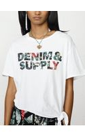 Denim & Supply Ralph Lauren Floral Side-tie Tee - Lyst