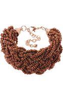 Toast Plaited Bead Bracelet - Lyst