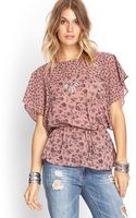 Forever 21 Floral Drop Waist Top - Lyst