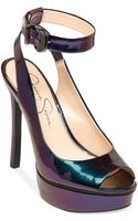 Jessica Simpson Careen Ankle Strap Platform Pumps - Lyst