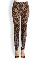 Roberto Cavalli Leopardprint Leggings - Lyst