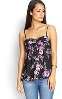 Forever 21 Ruffled Floral Print Cami - Lyst