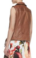 Haute Hippie Beltedhem Leather Zip Moto Vest - Lyst