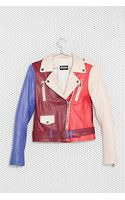 Nasty Gal Mac X Stunner Leather Moto Jacket - Lyst