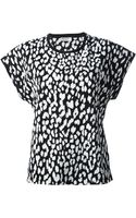 Saint Laurent Animal Print Tshirt - Lyst