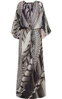 Roberto Cavalli Printed Silkgeorgette Maxi Dress - Lyst