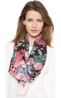 We Are Owls Flowery Scarf - Lyst