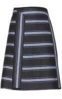 Chloé Striped Woven Skirt - Lyst