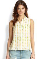 Equipment Mina Silk Citrusprint Shirt - Lyst