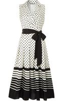 Eliza J Polka Dot Shirt Dress - Lyst