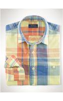 Polo Ralph Lauren Cotton Madras Workshirt - Lyst