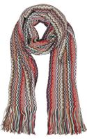 Missoni Zig Zag Wool Blend Fringed Stole - Lyst