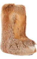 Liska Fox Fur Boot - Lyst
