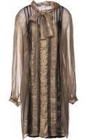 Philosophy di Alberta Ferretti Kneelength Dress - Lyst