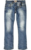 River Island Light Wash Clint Distressed Bootcut Jeans - Lyst