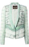 Roberto Cavalli Snakeskin Print Jacket - Lyst