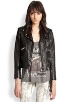 The Kooples Leather Motorcycle Jacket - Lyst