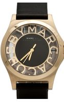 Marc By Marc Jacobs Henry Skeleton Watch in Black - Lyst