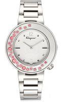 Ferragamo Topazbezel Stainless Steel Bracelet Watch - Lyst