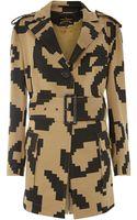 Vivienne Westwood Anglomania Harris Safari Pixelated Coat - Lyst