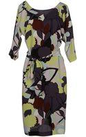 Diane von Furstenberg Knee Length Dress - Lyst